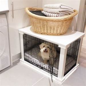 white wooden dog crate cover crate combo With white dog crate furniture
