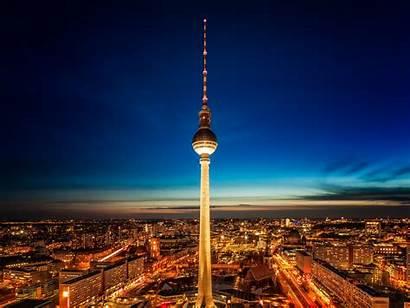 Berlin Tower Night Cn Germany Tv Park