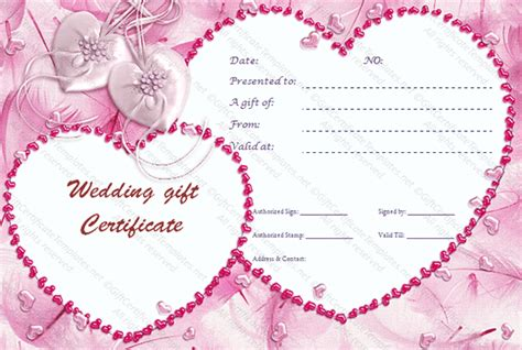 cupids pink gift certificate template