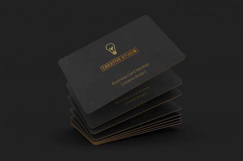 luxury business card mockup psd file premium