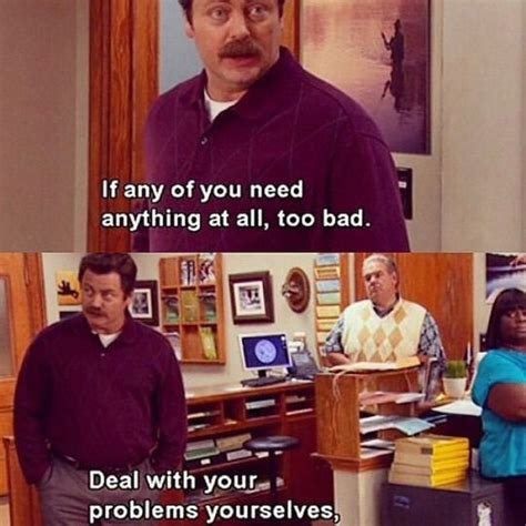 Ron Swanson Memes - 17 best images about parks and recreation on pinterest leslie knope parks and chris traeger