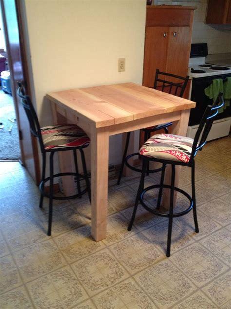 custom bar height table simple build