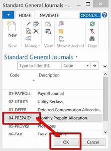 Microsoft Dynamics NAV Time Saver – Using Standard Journal ...