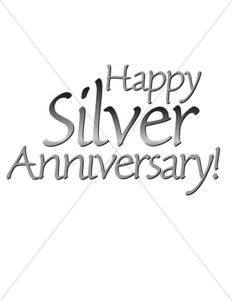 happy silver anniversary words
