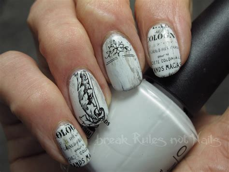 shabby chic nails black and white nail art break rules not nails