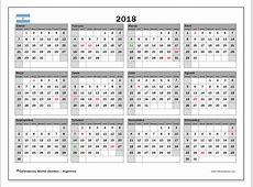 Calendario 2018, Argentina Michel Zbinden es