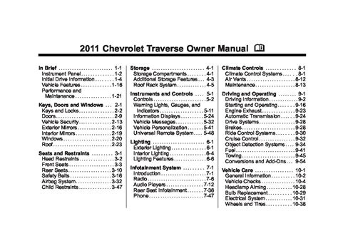 free auto repair manuals 2011 chevrolet traverse free book repair manuals 2011 chevrolet traverse owners manual just give me the damn manual