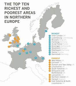 The top ten richest and poorest areas in northern Europe ...