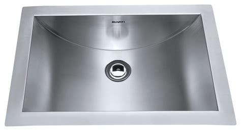 stainless steel undermount bathroom sink ruvati ruvati rvh6110 brushed stainless steel bathroom