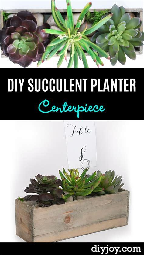diy succulent planter centerpiece