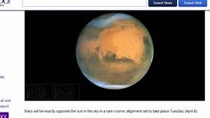 Earth  Mars And Sun Align On April 8th  Countdown To The