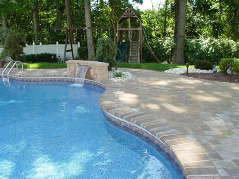pavers patio and pool surround new jersey masonry contractor