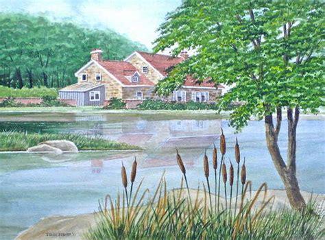 haus   landschaftsbild  aquarell anleitung
