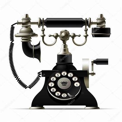 Telephone Phone Isolated Rotary Dial Retro