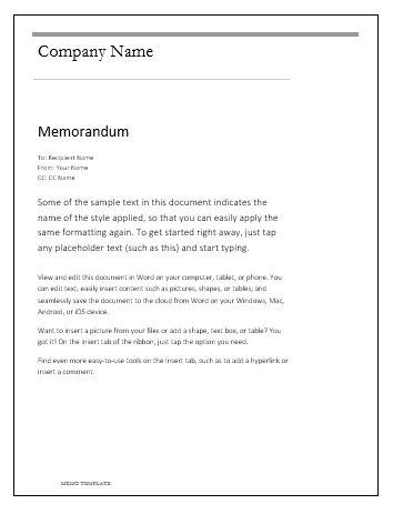 memo template  word templates