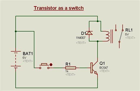 transistor circuits  proteus  switchbistable