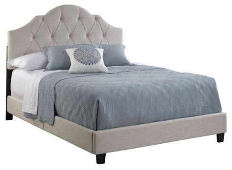 Allnone Queen Fully Upholstered Tufted Saddle Bed From