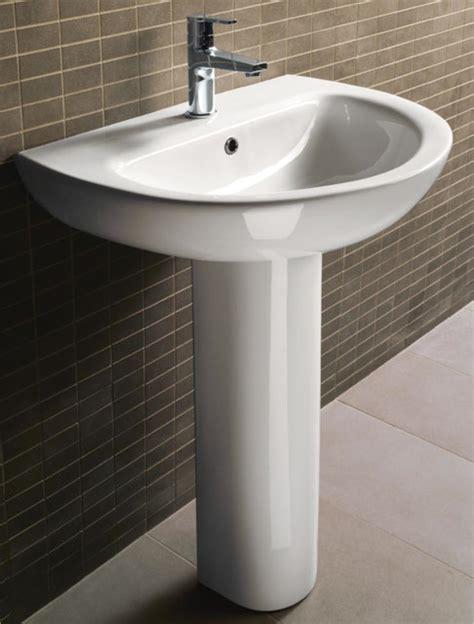 contemporary bathroom pedestal sinks modern curved ceramic pedestal sink by gsi modern