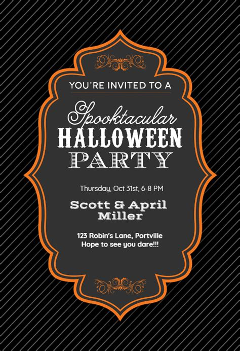 spooktacular halloween party halloween party invitation