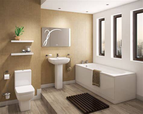 Contemporary Shower Bath, Basin