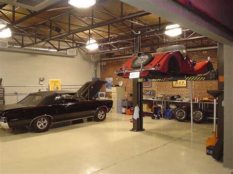 Ideas Modern Workshop Garage Interior Design Red