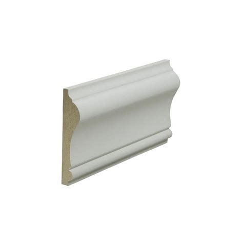 Shop 2625in X 8ft Painted Mdf Chair Rail Moulding At