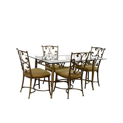 wrought iron and glass dining table 72 off glass and gold wrought iron dining set tables
