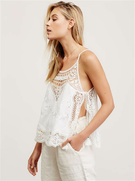 Free Best by Free Staying Alive Lace Top In White Lyst