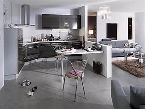 amenagement cuisine ouverte sur salon cuisine en image With amenagement salon cuisine ouverte