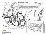 Cave Mammoth Coloring Pages National Geology Education Animal Park Animals Nationalgeographic Bat Preschool Illustration Mary Geographic Bing sketch template