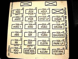 2000 Blazer Fuse Box Diagram