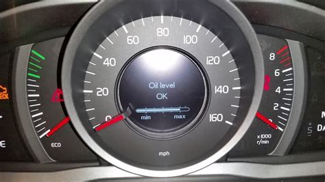 volvo xc suv   check oil level driver