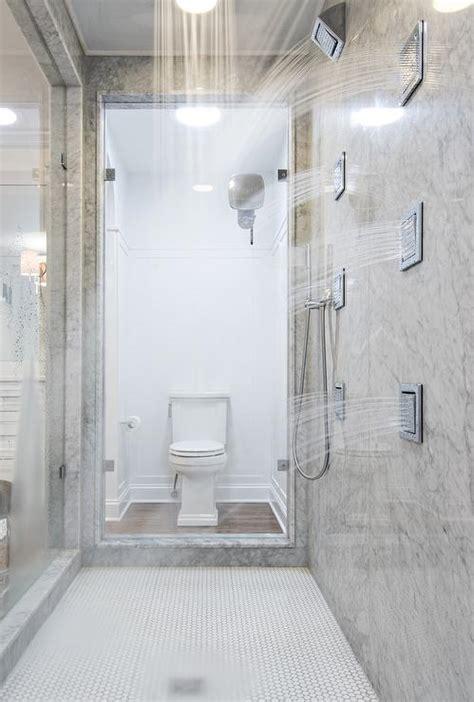 walk  showers transitional bathroom