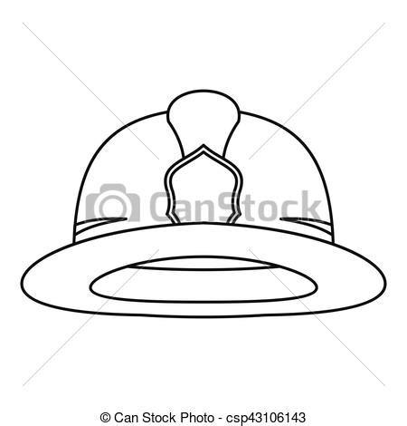 14074 firefighter helmet clipart black and white fireman helmet icon outline style fireman helmet icon