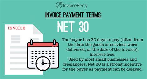 net    standard invoice payment term
