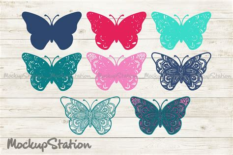 Free 3d layered mandala cut file for cricut and silhouette. Butterfly 3D Mandala SVG, Layered DXF Cut File Vector ...