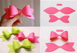 How to make paper craft bow tie step by step DIY tutorial ...