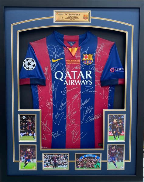Barcelona Team Signed 2015 Jersey
