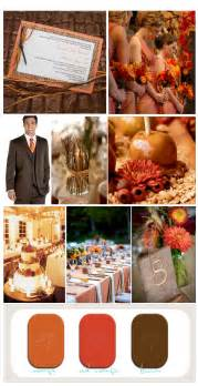 rustic fall wedding fall orange and brown rustic wedding inspiration board invitations nautical