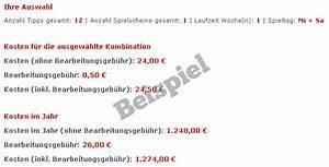 Lotto Kosten Berechnen : lotto kostenrechner ~ Themetempest.com Abrechnung