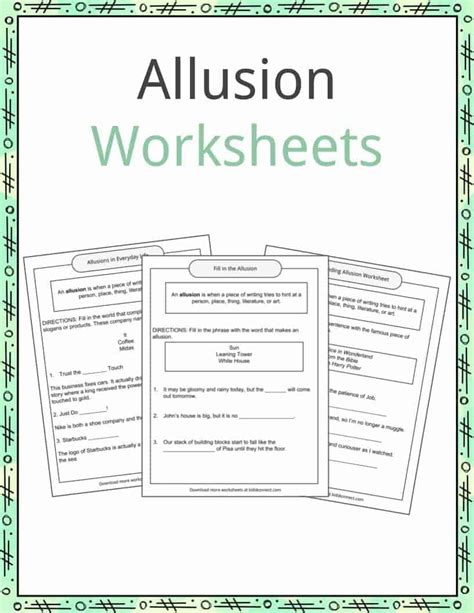 allusion exles definition and worksheets kidskonnect