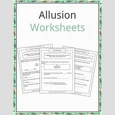 Allusion Examples, Definition And Worksheets Kidskonnect