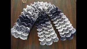 Picot Shell Stitch Scarf - Crochet Tutorial
