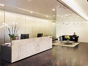 The spacious reception area gives off the vibe of a luxury ...
