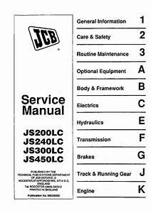 Jcb Js200 Js240 Js300 Js450 Lc R3 Excavator Workshop