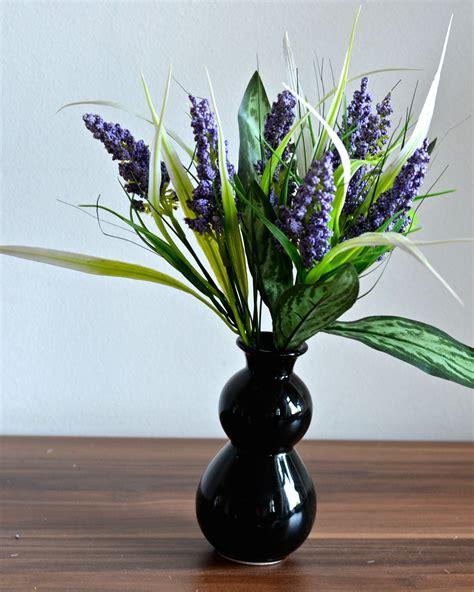 künstliche blumen kaufen lavendel k 252 nstliche blumen kunstblumen inkl vase kunstpflanze blumenstrau 223 ebay