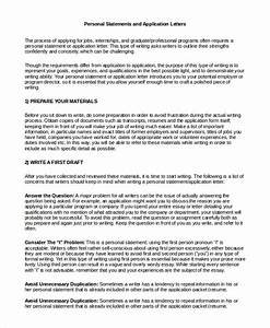 letter of interest vs personal statement template