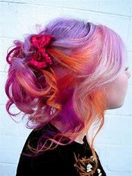 Orange and Purple Hair