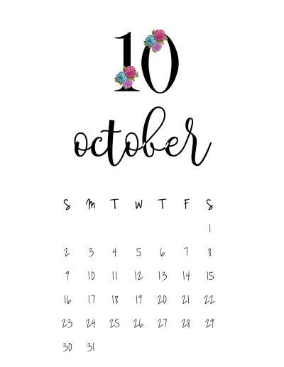 minimilistic calendar