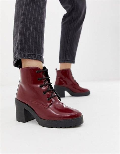 asos design rosa chunky lace  boots